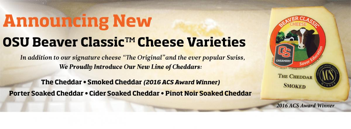 Announcement of new beaver classic cheddar varieties
