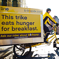 Image of B-Line Urban Delivery bike in Portland, Oregon